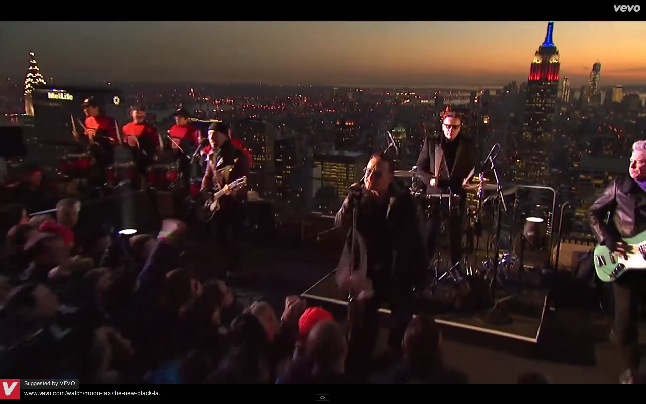 Video screen grab 4 of U2 performing Invisible on The Tonight Show with Jimmy Kimmel