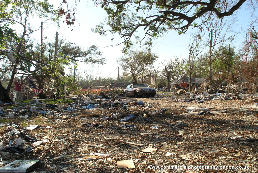 stock photo Hurricane Katrina storm damage New Orleans 054092