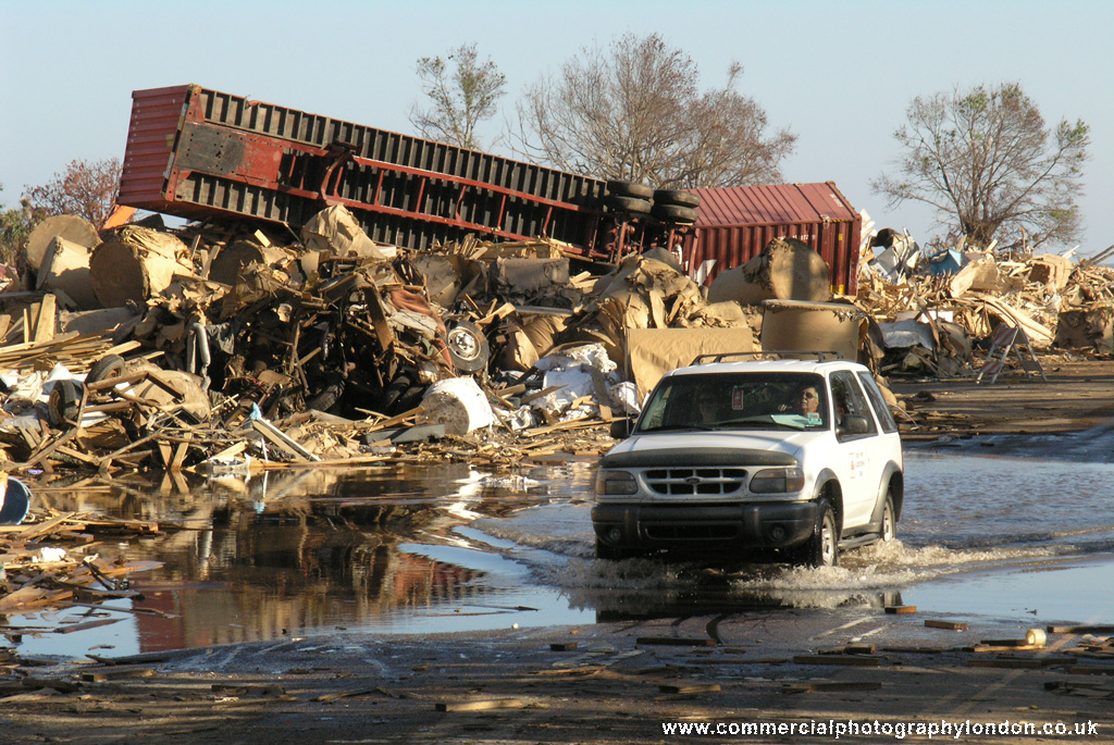 stock photo Hurricane Katrina storm damage New Orleans 054131