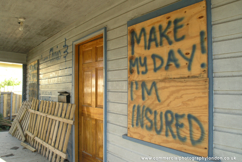 stock photo Hurricane Katrina storm damage New Orleans 054134 - editorial photographer in london
